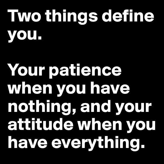 What defines you?