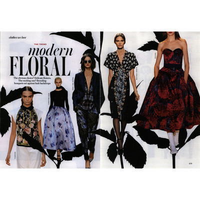 InStyle Editorial Modern Floral, March 2013 Shot #1