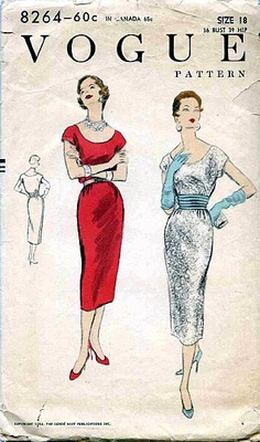 1954 Vogue Dress Pattern.