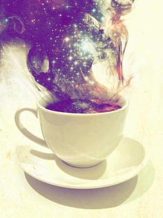 The world in my coffee cup!